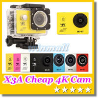 Wholesale X3A Cheapest K Action Camera inch LCD Degree Lens Waterproof Sport Helmet Cam K fps SJ6000 Style