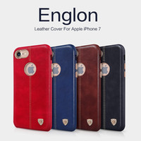 backing car - For iphone Original Nillkin Vintage lether PC case Englon PU Leather back Cover Case for iphone inch fit magnetic car