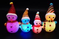 Wholesale Luminous colorful night light particle light flash Santa Claus snowman Christmas gifts small cm cm cm children s toys