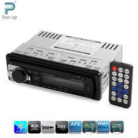 Wholesale car dvd V Bluetooth Car Audio In dash Single Din Stereo Aux Input Receiver SD USB MP3 MMC WMA FM Radio Player Tuner With Remote