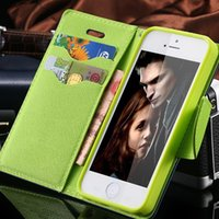 affordable cases - For iPhone S Cases New Affordable Hit Color Leather Ultra Flip Case For iPhone S G Card Holder Stand Cover Mobile Phone Bag