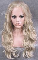 Cheap Long Wavy Wig Best Lightest Blonde Color Wig