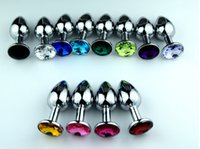 Wholesale Small Anus - Wholesale -Stainless steel Anus plug - Small&Large Anal Toy - Anal jewelry butt plug - free shipping