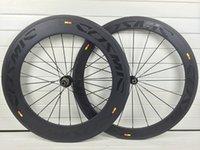 Wholesale 700C mm Mavic Cosmic carbon wheels road carbon bike wheels K matte black decals glossy bicycle wheelset Novatec hubs