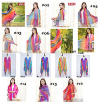 Wholesale Women Summer National Style Sun Protection Tassels Air Condition Scarf Shawl Wrap