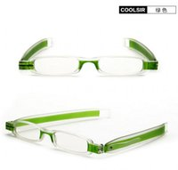 Wholesale Ultra light Portable Rotating Folding Reading Glasses Slim And Clamp Optical Frame Mini Reading Glasses Diopter