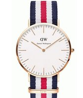 belts wholesale trade - The new foreign trade hot style DW nylon canvas tide multicolor woven belt Men s and women s slim quartz watch ASWQD