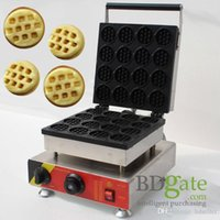 Wholesale 16pcs Commercial Use Non stick v v Electric Mini Round Waffle Stick Maker Iron Baker Machine