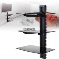 Wholesale 3 TIER GLASS SHELF WALL MOUNT Bracket UNDER TV CABLE BOX COMPONENT DVR DVD