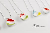 Wholesale South Korea Japan and South Korea a small fresh ceramic Necklace girls short paragraph of the chain of Jingdezhen original handmade jewelry