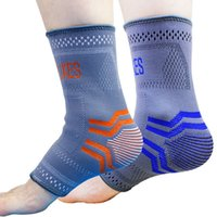 Nylon ankle sprain support - DHL Professional Nylon Elastic Ankle Braces Support Foot Sprain Ankle Joint Protector Sports Safety Tobilleras Deportivas M L