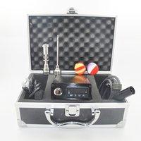 portable kit - E Nail Kit Dab Portable Electronic Dabber D Nail Box Kit Quartz E Nail Case Digital Dab Titanium Nail Domeless D nail WAX Vaporizer Hand