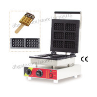 Wholesale Square lolly waffle machine commercial waffle baker machine with six square lolly waffle moulds stainless steel commercial waffle making