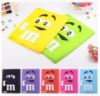 bean table - New D Cartoon Silicone Case for IPAD MINI IPAD CUte M M Chocolate Rainbow Bean Soft Rubber Back Cover Skin for Table Tab IPAD