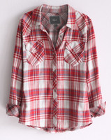 Wholesale Rails double layer cotton women s casual long sleeve plaid shirt sun protection clothing star