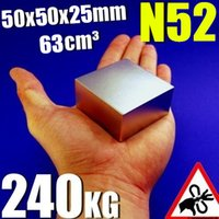 Wholesale Ture N52 Block x50x25mm Real Size Rare Earth magnets Neodymium Magnet Super Strong