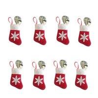 christmas items - Christmas snow Christmas supplies Christmas stockings socks cutlery set of knives and forks Christmas bag items