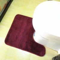Wholesale Non slip bathroom mats toilet waterproof carpet anti skid U rug cm colors