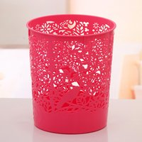 Wholesale Hollow Waste bin Waste container Trash garbage can Office trash can paper basket standing trash Size cm