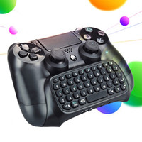 Wholesale In stock pc mm Plug Black Mini Wireless Chatpad Message Keyboard for PS4 Controller