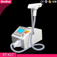 Wholesale 2016 New Product Portable Q switch Nd Yag Laser Tattoo Removal nm nm Black Doll Tattoo Remover Skin Whitening Beauty Machine