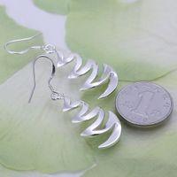 bay plant - Hot sale women s sterling silver Crescent Bay earring SDSE203 fashion silver Dangle Chandelier earrings best gift