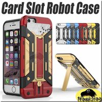 iphone 5s - Ironman Shockproof Hybrid Heavy Duty Armor Transformer Robot Stand Case Card Slot for iPhone s Plus s Galaxy Note S7 Edge