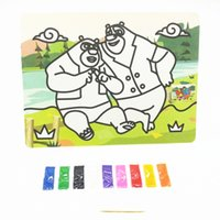 Wholesale King CM color sand painting puzzle classic children s learning and educational toys