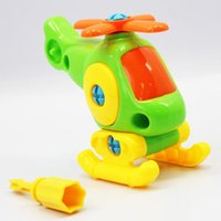 assembly papers - Kids Animal Puzzle Educational Toys Airplane Kids Disassembly Assembly Cartoon Toy Aircraft