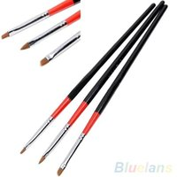 Wholesale 1 Set UV Gel Acrylic Nail Art Brush Painting Drawing Nail Pens