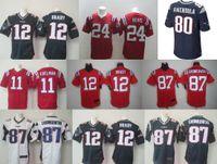 Wholesale Elite Mens Tom Brady Rob Gronkowski Julian Edelman Danny Amendola Steven Jackson Stitched Jerseys