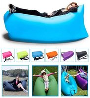 Wholesale Lamzac Hangout Beds Fast Inflatable Sleep Bag Seconds Quick Open Lazy Sleeping Bed Kaisr Folding Sofa Beach Sleep Bed