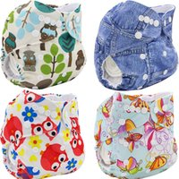 bamboo couch - Couches Lavables Baby Diapers Washable Character Print Reusable Cloth Diaper Cover Baby Nappy Brand Bamboo Velour Fitted Diaper