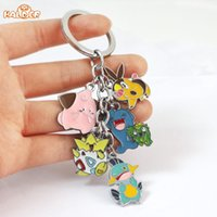 amethyst car pendant - Japan Animal Anime Poke Keychain Eevee Pocket Monsters Cartoon Metal Cosplay fashion pendants charms collection figure toys K