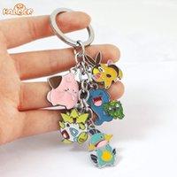amethyst photos - Japan Animal Anime Poke Keychain Eevee Pocket Monsters Cartoon Metal Cosplay fashion pendants charms collection figure toys K