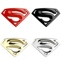 Wholesale 3D M chrome emblem Auto logo Superman badge metal Motorcycle accessories Car styling Funny car stickers