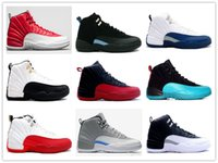 Wholesale 2016 New taxi retro mens white black sneakers mens sports retro Taxi XII Playoff wings French Blue cherry red sport Boots