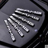 amg steering wheel - 6pcs New Design For Mercedes AMG Aluminous Car Steering Wheel Emblem Sticker Car Metal Sticker AP
