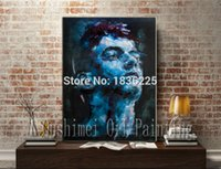 Cheap modern figures decoration oil painting handsome man face wall sticker Canvas Oil Painting home decor interior decorating