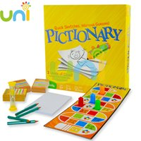 Wholesale 2016 New Arrival Pictionary The Game Of Quick Draw Family Pictionary Board Game Toy Refresh Edition