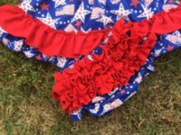 Wholesale 2015 new baby boutique grils th of July Patriotic swing outfits with matching necklace and bows set