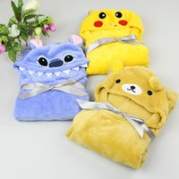 bathrobes children - Baby Kids Hooded Bath Towel cape Soft Velvet Cute Animal Shape Cartoon Toddler Boy Girls Bathrobe HY1259