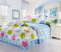 apple green comforter - brand new blue green violet red apple pattern queen cotton covers girl s bedding comforter quilt duvet covers sets pc