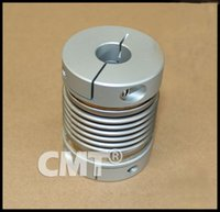 Wholesale Clamping Aluminum bellows coupling High sensitivity and High Torque Coupling for Encoder test machine D L D1 D2 at MM