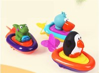 bath rope - Sassy baby bath toys Paddle clockwork toys Play water rope ship Essential baby water toys high quality