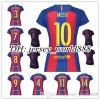 barcelona women football - 16 top Thailand quality Barcelona soccer jersey Home Away Women MESSI ARDA A INIESTA Soares et I RAKITIC football jersey can be p