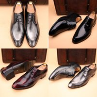 Wholesale Gucci men s leather shoes leather shoes on British business dress stylist wedding increased in spring and autumn