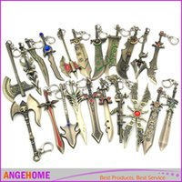aurora games - 17 Styles League Of Legends Game Weapon lol Keychain Aurora Leona Sword Keychain Weapon Model Keychain Fashion Jewelry