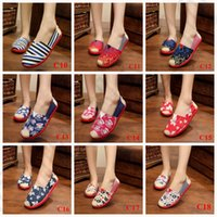 beijing shoes - LJJJ99 Women Lady Canvas Flat Loafers Mary Jane Shoes Casual Slip On Striped Leaf Star Elastic Shoes Beijing PAIR
