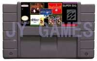 Wholesale Hot sales a Classic snes mutil games cart usa version hot sell ms001 in1 mixed order snes cartridge